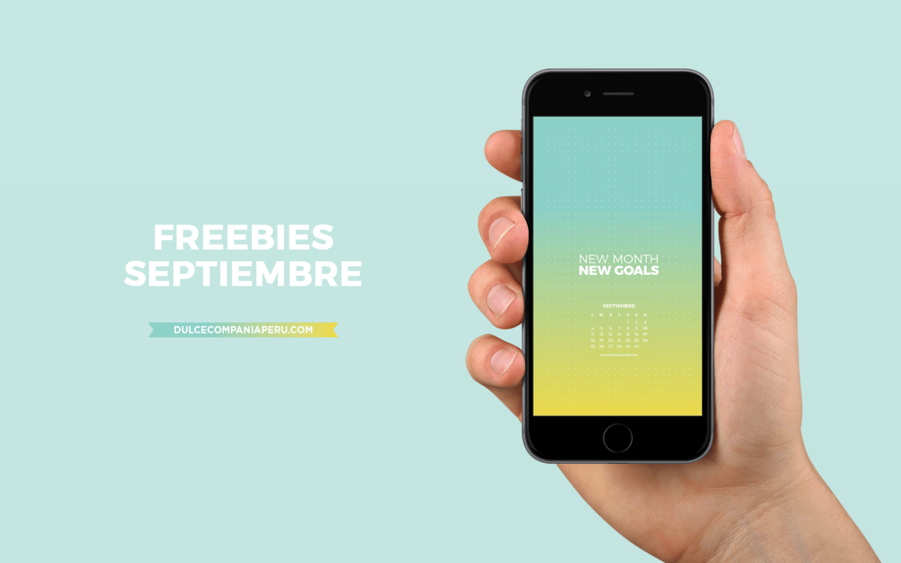 Mockup wallpaper Daydream para freebies de septiembre