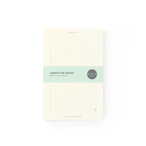Block de notas tipo Checklist Dulce Compañía