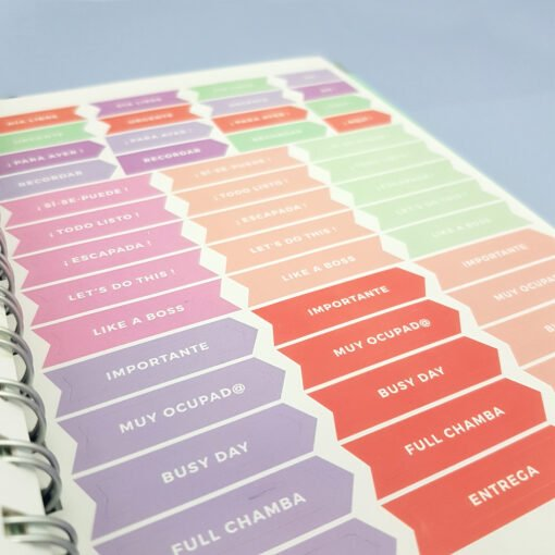 Detalle de Stickers para Agenda Dulce Compañía 2018