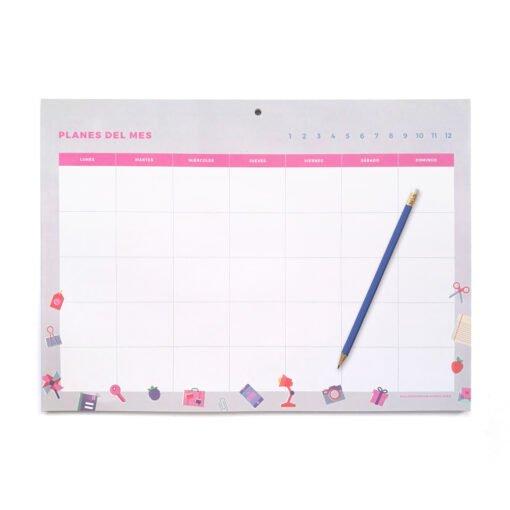 Monthly planner colección POP! de Dulce Compañía con lápiz