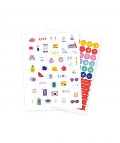 Stickers diario agenda study planner