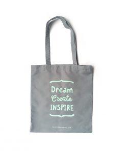 Bolso de tela Dream Create Inspire de Dulce Compañía