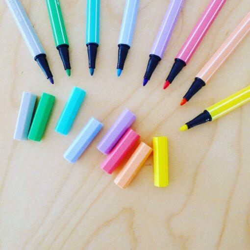 Plumones Stabilo 68 gama pastel