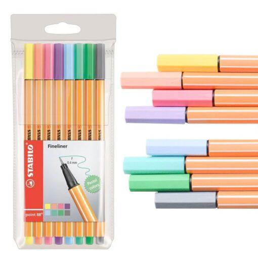 Finepens Stabilo 88 gama pastel