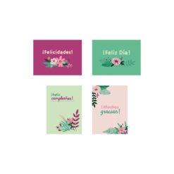 Tarjetas de papel de la colección Flora