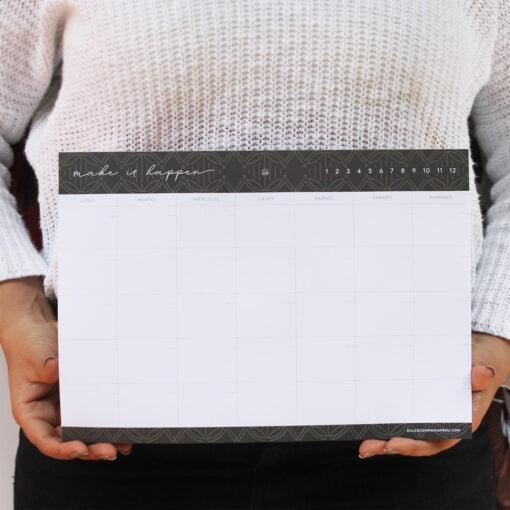 Planificador mensual, Mérida, organización, papelería, dulce compañía