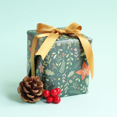 papel de regalo regalo navideño