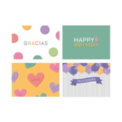 Tarjetas smarties dulce compañ{ia greeting cards