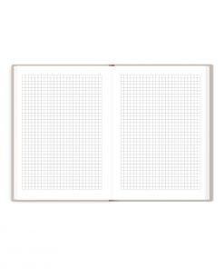 Interior de cuaderno The Foil Lab diseño Cuadriculado