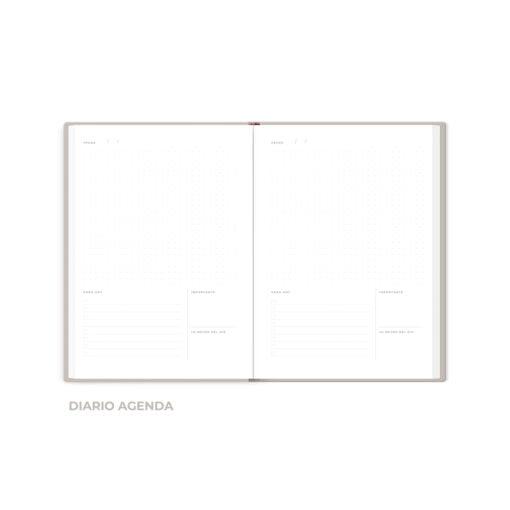 Interior de cuaderno The Foil Lab diseño Diario-Agenda